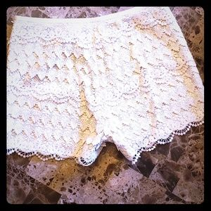 J. McLaughlin Lace Summer Shorts